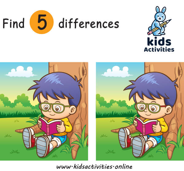 Find the 5 difference between two pictures printable