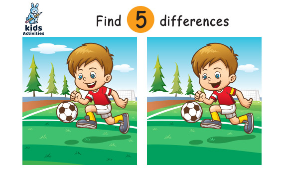 Spot 5 Differences Between Two Pictures Printable