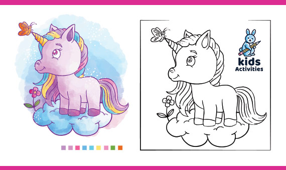 Baby Unicorn Coloring Pages For Kids Cute Kids Activities