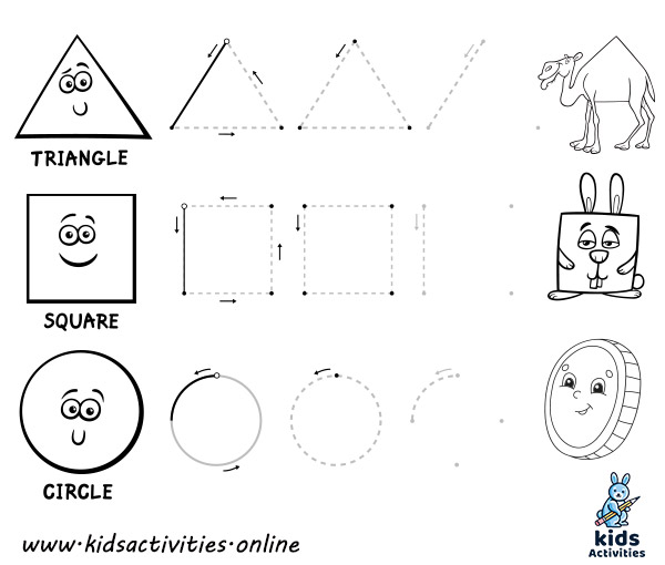 preschool shapes worksheets - free printable