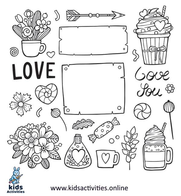 Doodle art love