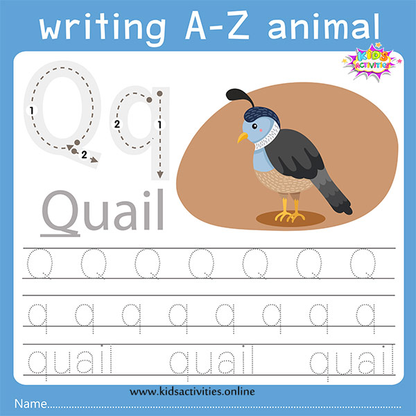 Tracing letters q