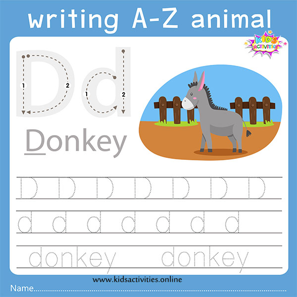tracing letters d