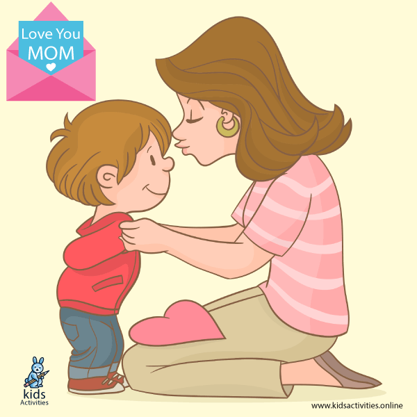 Mother and Child Cartoon Images