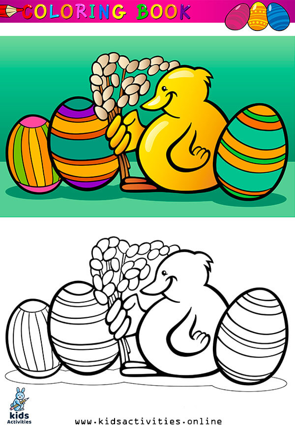Cartoon spring coloring pages