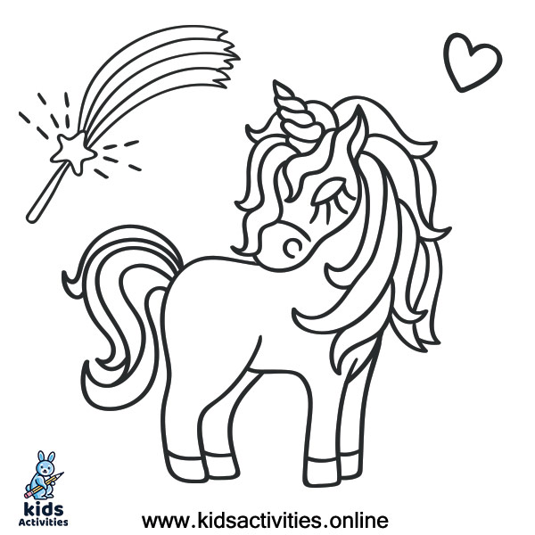 Coloring worksheet unicorn