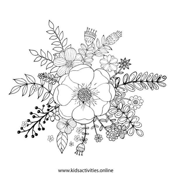 Free Coloring Pages For Adults - Flower, Mandala
