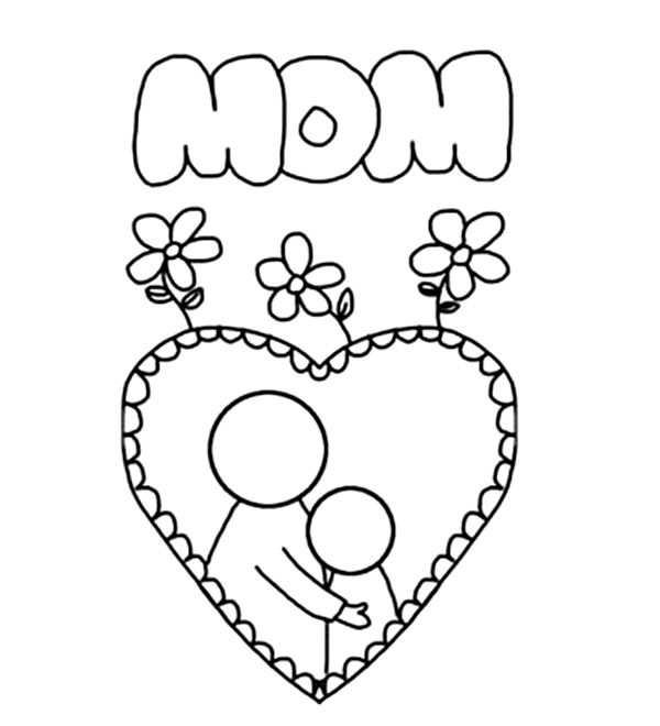 Coloring pages mothers day flowers