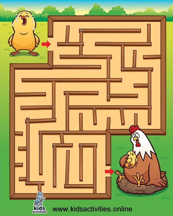 Download free mazes for preschoolers
