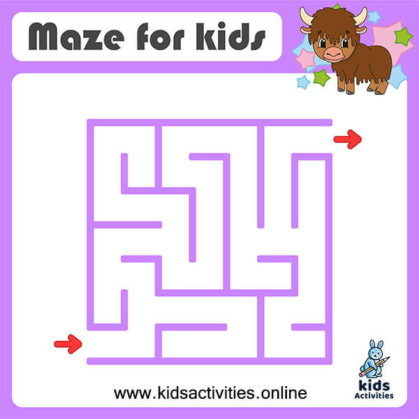 Free easy printable mazes for preschoolers
