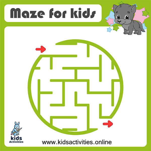 Easy mazes for kids - free printable