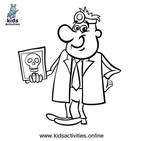 Coloring page doctor picture