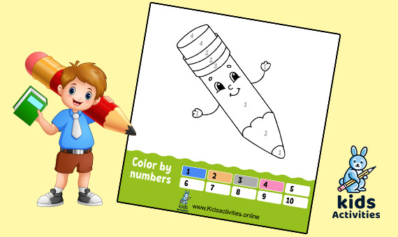 Free Coloring by numbers Worksheets For Kindergarten