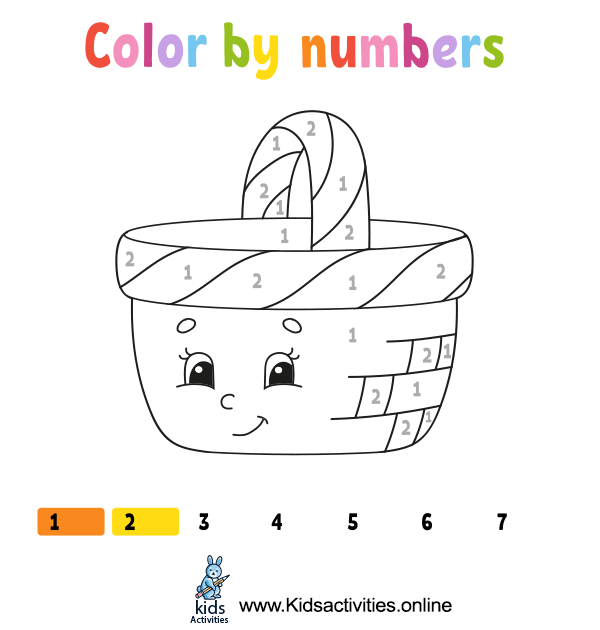Coloring by numbers for preschoolers