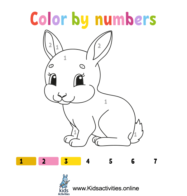 Coloring by numbers for kindergarten