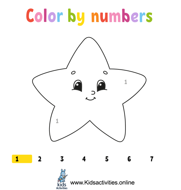 Coloring book with numbers