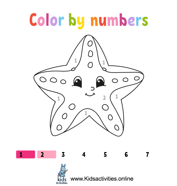 coloring by numbers printable