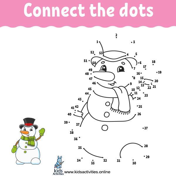 Dot to dot worksheets