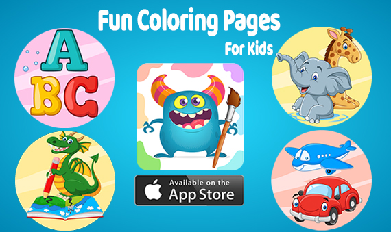 fun coloring pages for kids - ios app