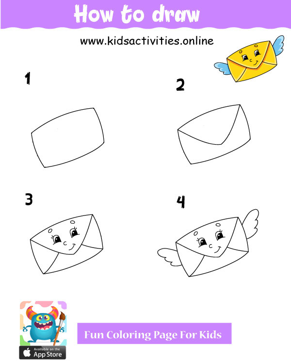 Easy things to draw step by  step - Cute drawings