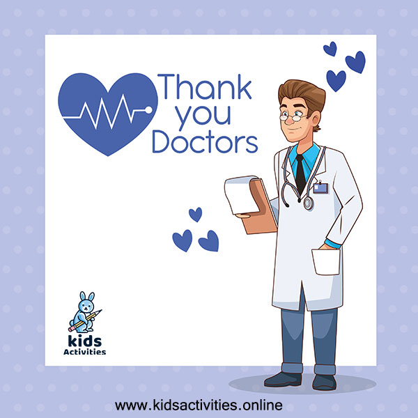 Thank you doctor card