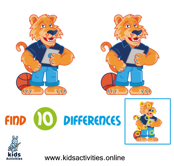 Spot the 10 differences between the two pictures answer