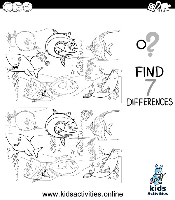 Spot the difference worksheets for kindergarten pdf