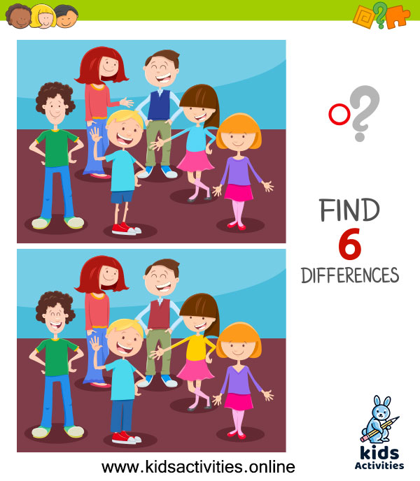 Spot the differences games - Spot the 6 differences between the two pictures