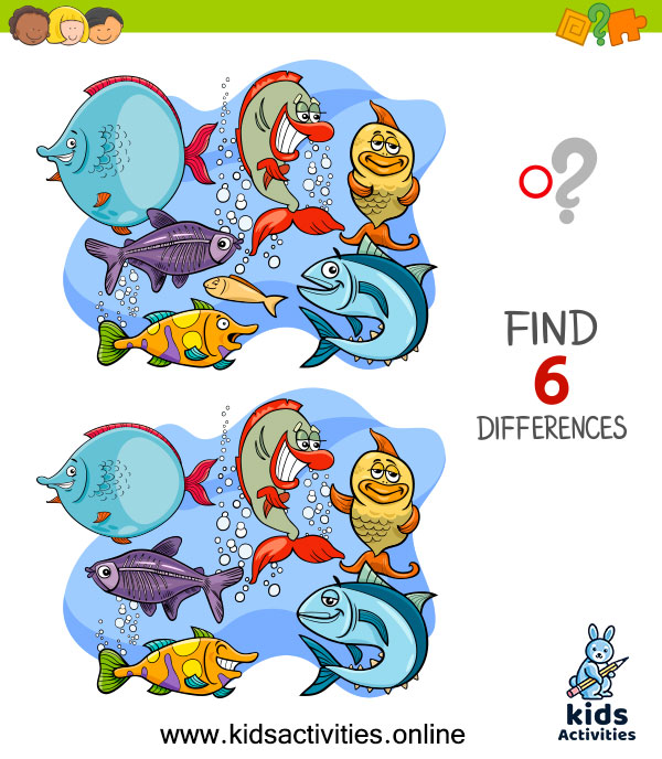 Spot the 6 differences between the two pictures