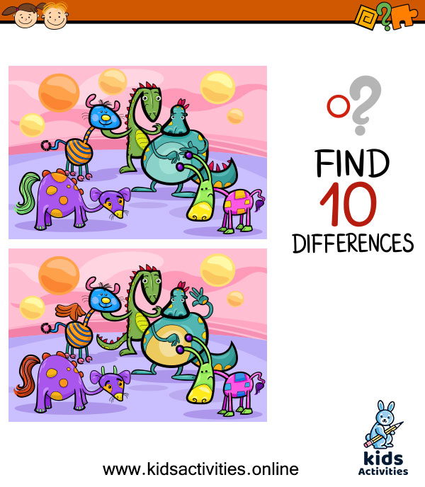 Spot the differences games