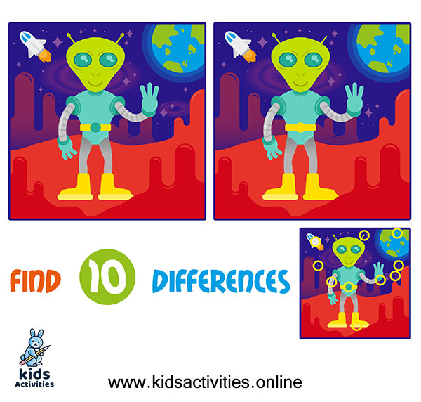 find difference between two images for kids