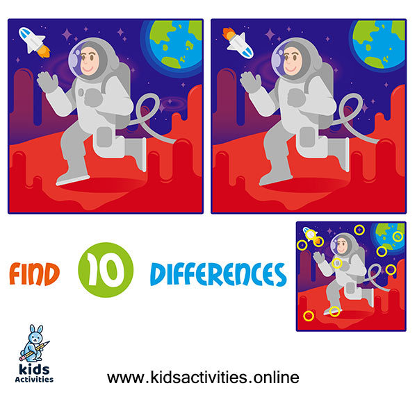 Spot the 10 differences answer