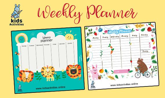 Free Printable Weekly Planner 2020 pdf