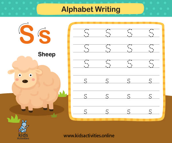 Preschool worksheets printable - tracing alphabets letters