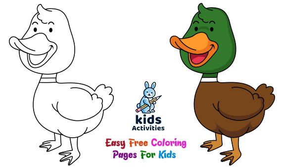Best And Easy Free Coloring Pages For Kids ⋆ Kids Activities
