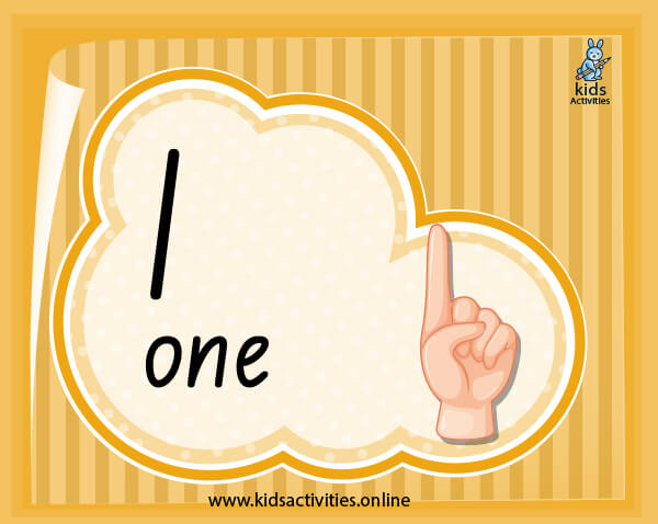 Number flashcards with words