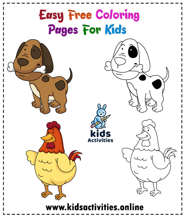 Best And Easy Free Coloring Pages For Kids