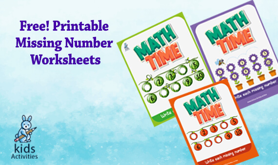 Free Printable Missing Number Worksheets 1-10
