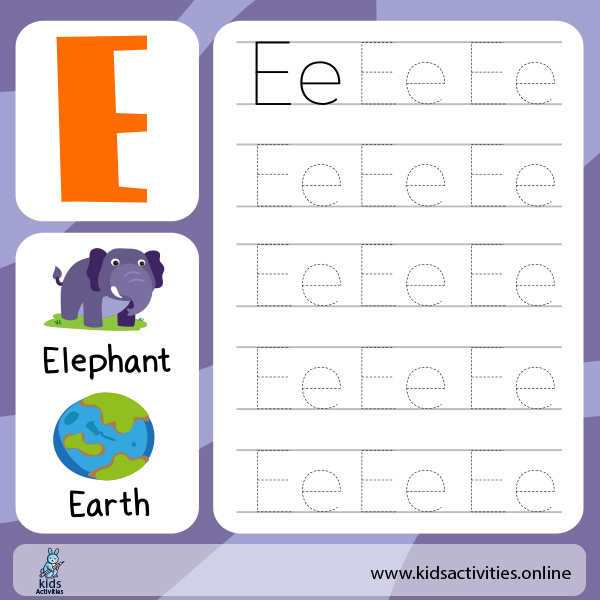 Alphabet worksheet PDF - tracing letters for preschool kids