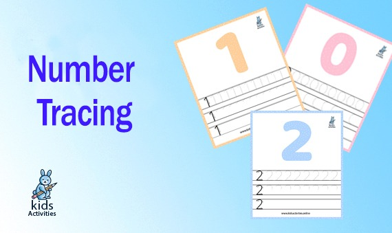 Number Tracing - kindergarten math worksheets printable
