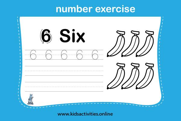 Kindergarten math worksheets free - Number 6