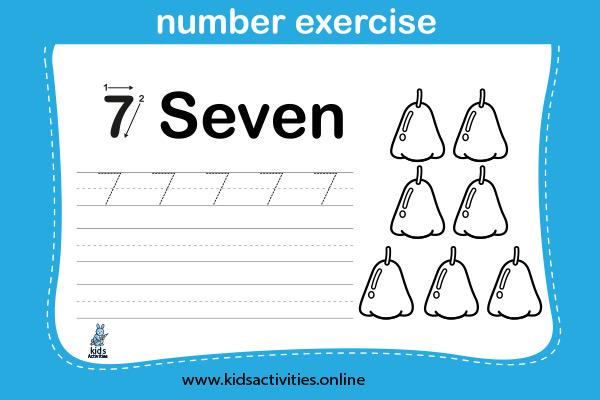 Free! Printable Writing Numbers 1-10 Worksheets - Six