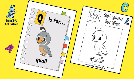 Free animal alphabet kinder coloring pages