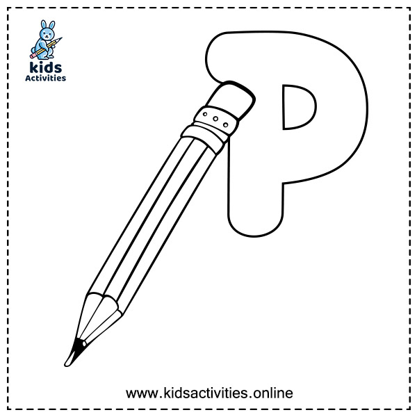 ABC For Coloring - letter P
