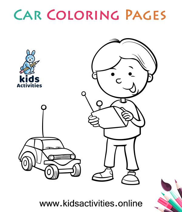 Free Printable cute car coloring pages for kids