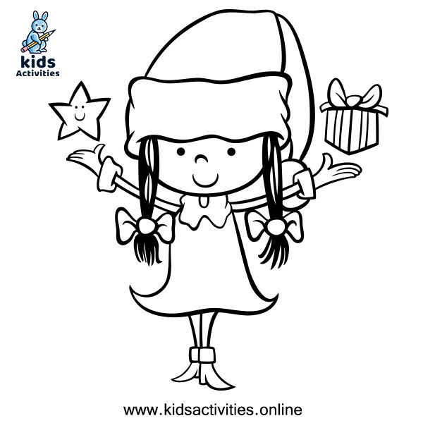 Girl coloring page for Kids