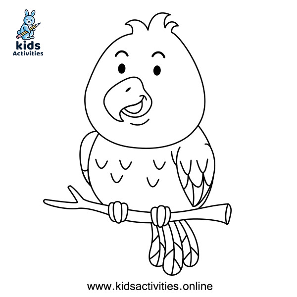 Best Coloring Pages For Kids - bird