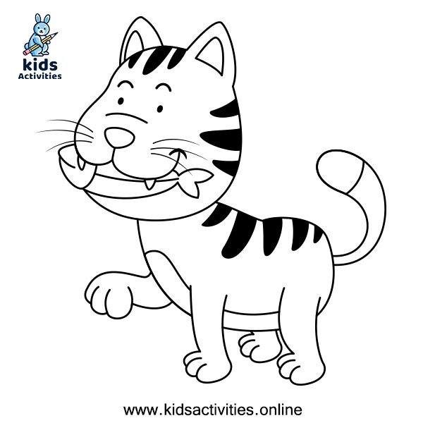 Coloring pages for pre-kindergarten - Cat