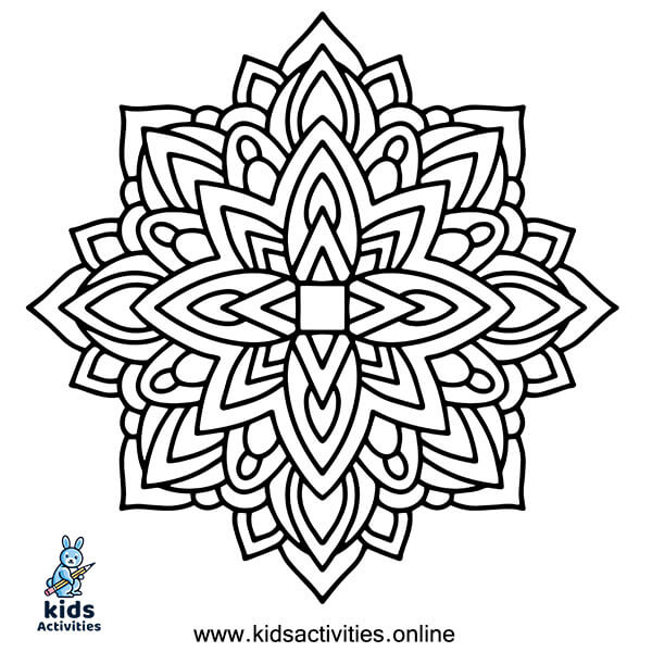 Printable mandala coloring book free