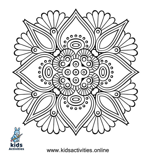 Printable Mandala coloring sheets